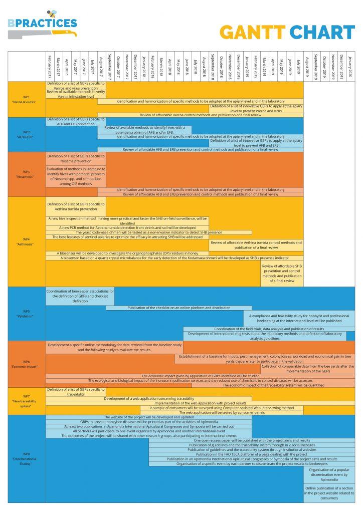 BPractices GANTT Chart