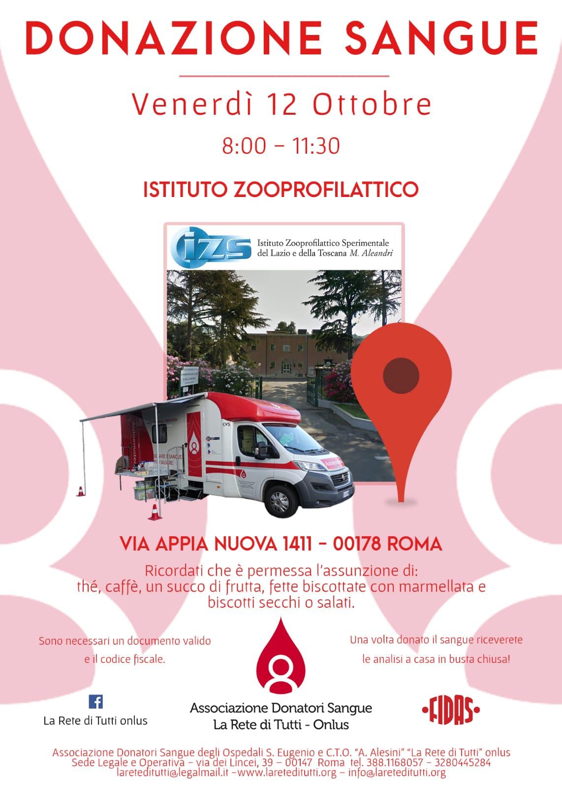 Brochure donazione sangue
